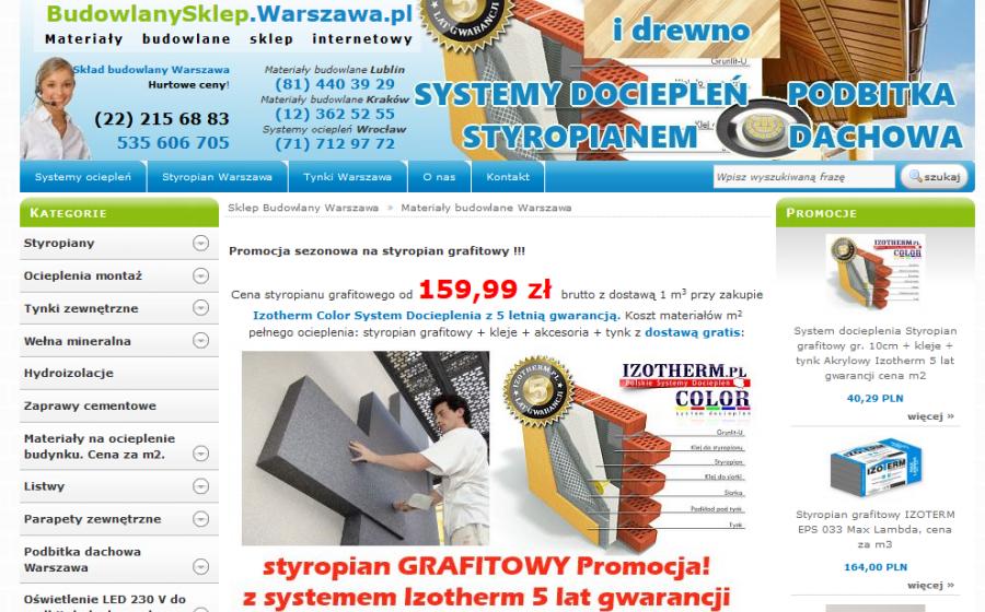 6f96748ca68e44 Budowlany sklep internetowy Warszawa | Tworzenie Sklepów i Stron ...